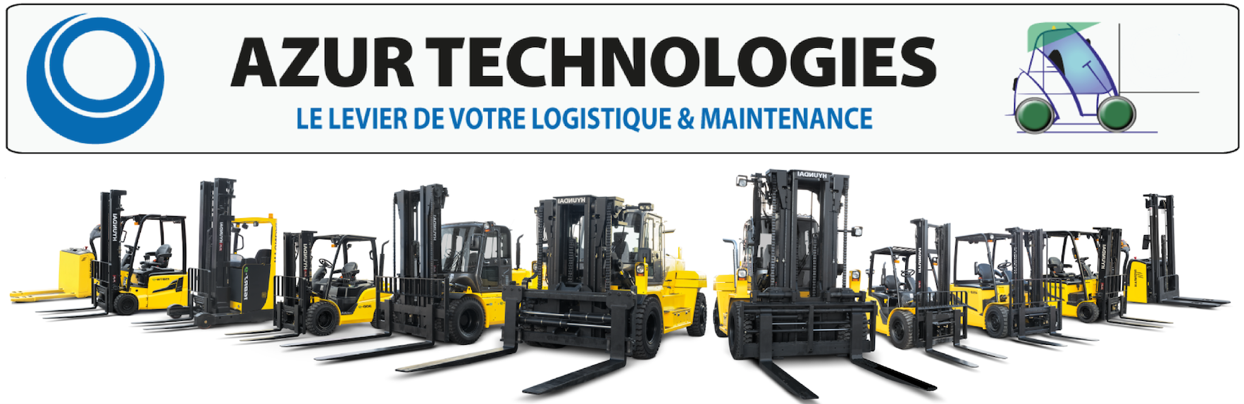 Azur Technologies, vente/achat/location/entretien de matériels de manutention et travaux publics